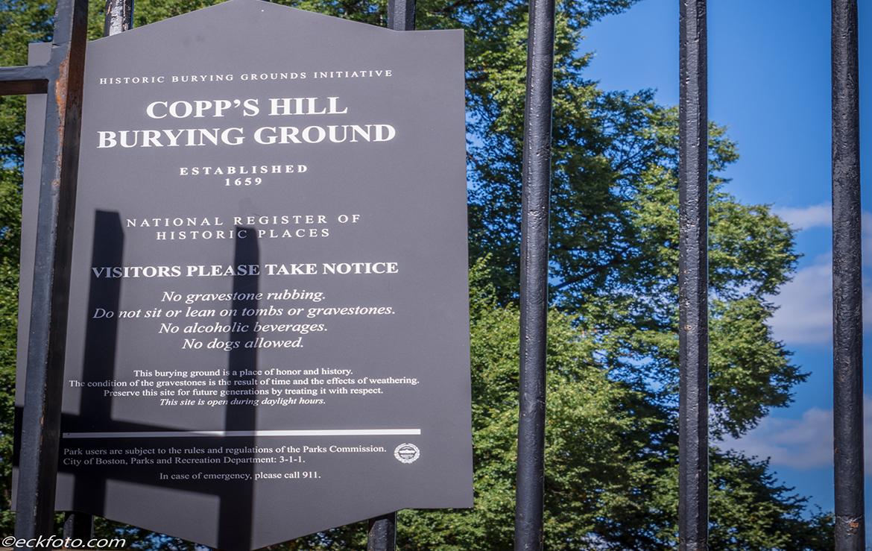 Copp's Hill Burying Ground Plate